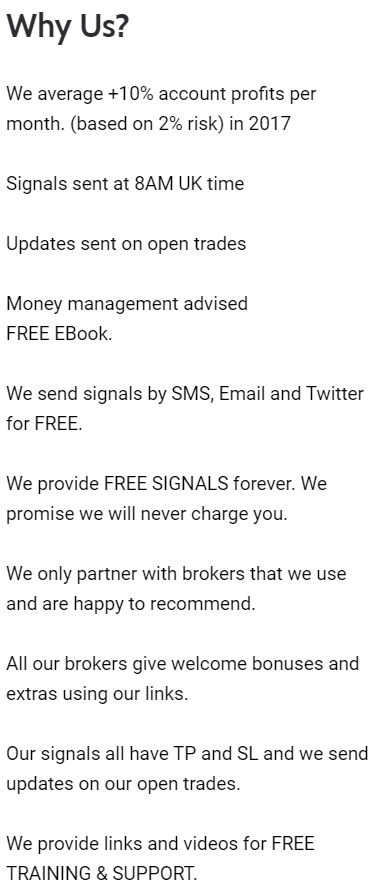 123FreeSignals why us