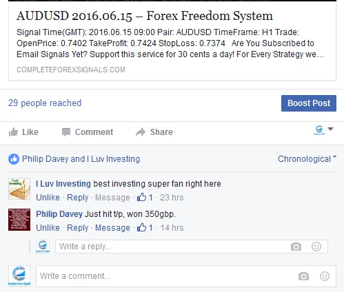 Complete Forex Signals Facebook