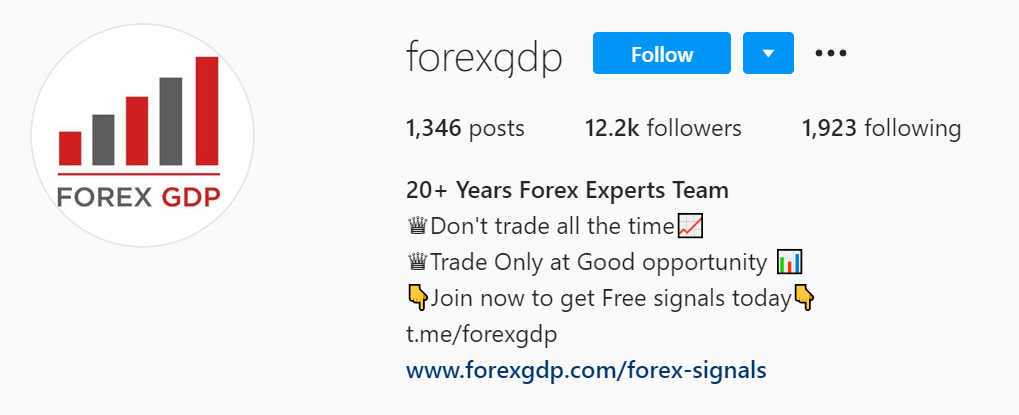 ForexGDP Twitter page