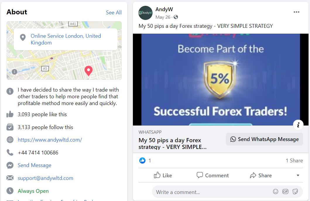 AndyW LTD FB page