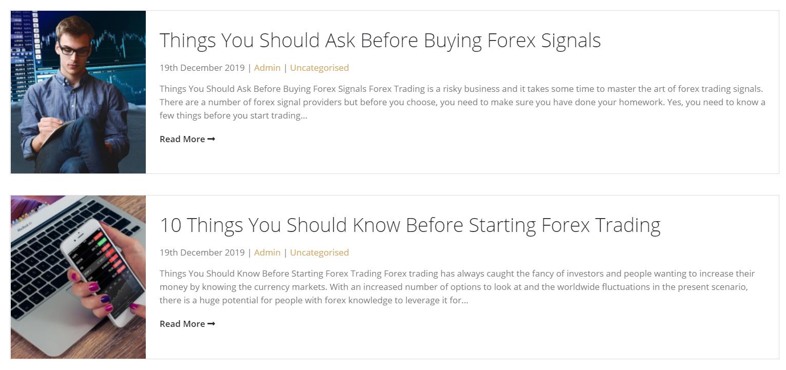 FX Price Signals articles