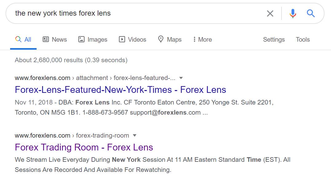 Forex Lens Google