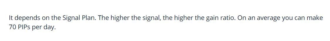 Forex Profita Signal plan