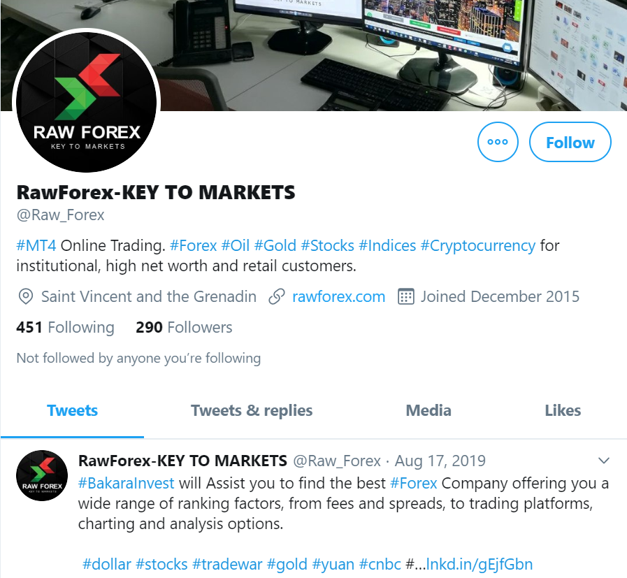 Raw Forex Social Network Profiles