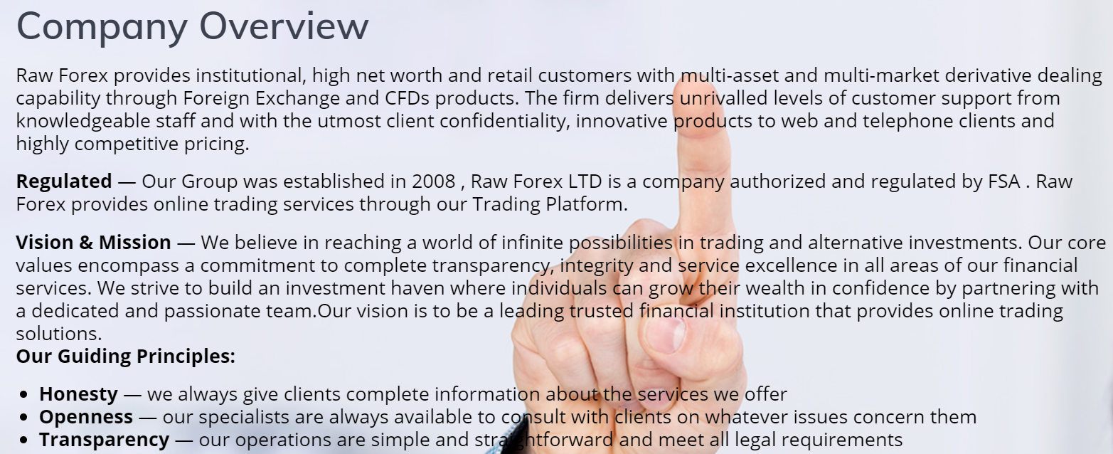 Raw Forex company overview