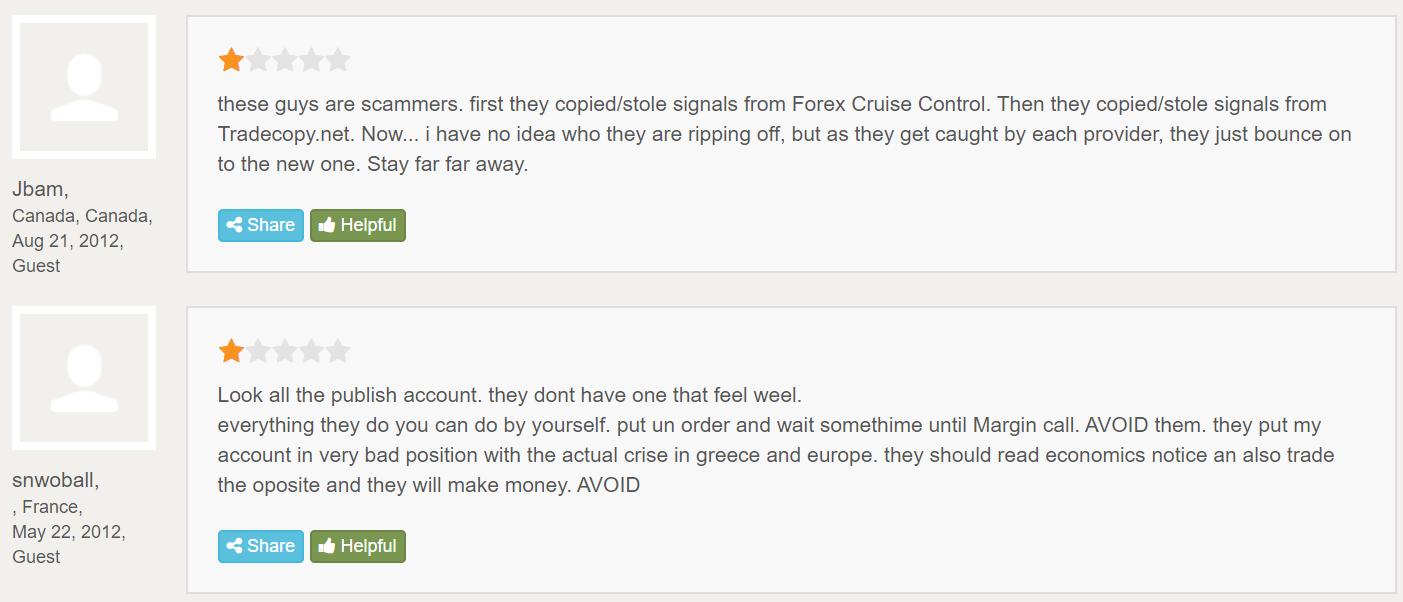 Trade Surfers People feedback