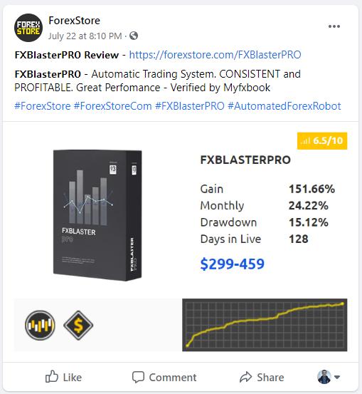 FXBlasterPro Social network profiles