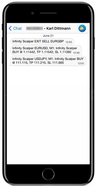 Infinity Scalper push-notifications
