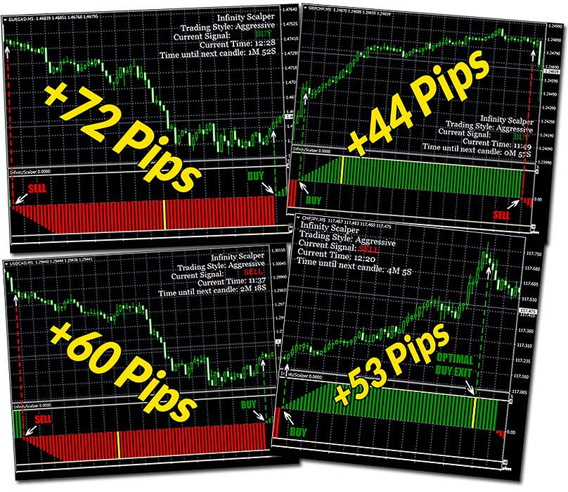 Infinity Scalper screenshot of charts