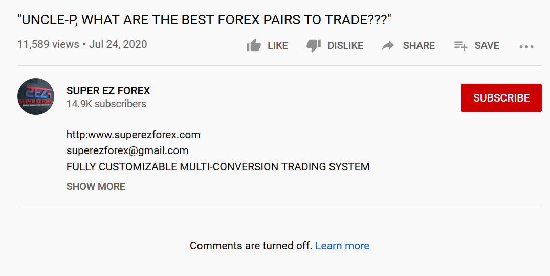Super EZ Forex video