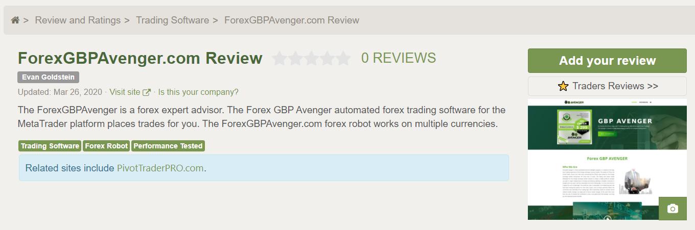Forex GBP Avenger Customer Reviews