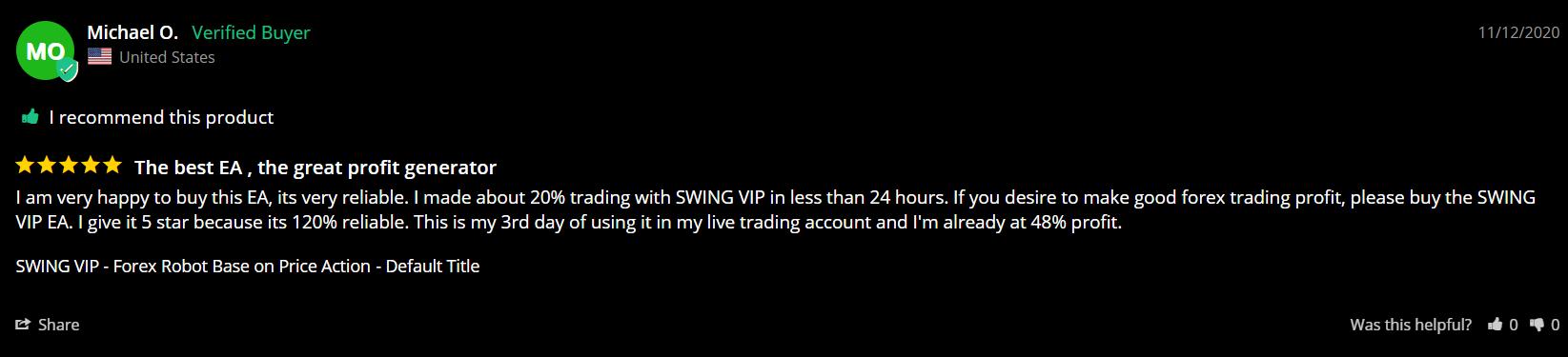 Swing Vip Customer Reviews