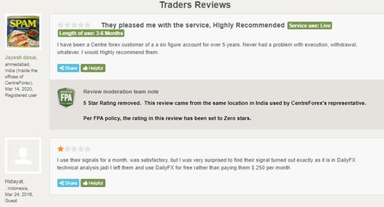 Centre Forex Customer Reviews