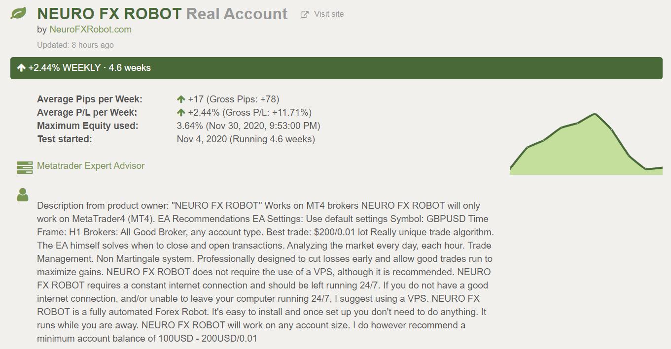 Neuro FX Robot Customer Reviews