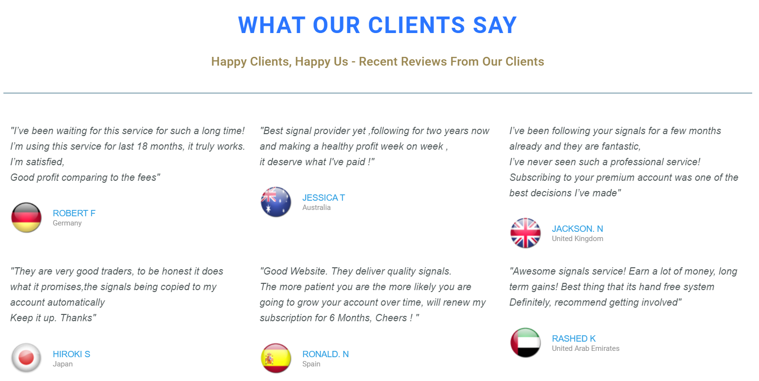 Waw Forex Signals Customer Reviews