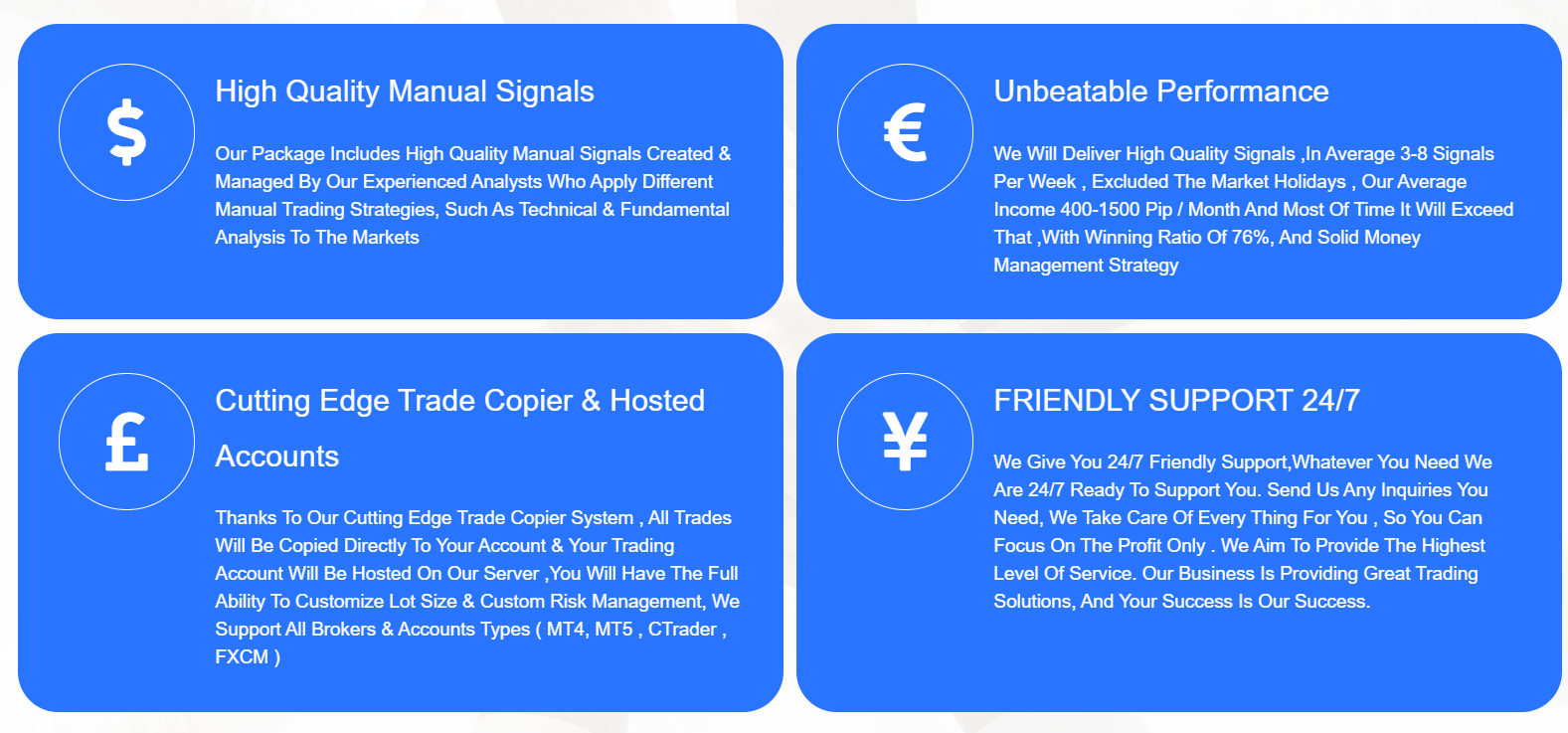 Waw Forex Signals Features