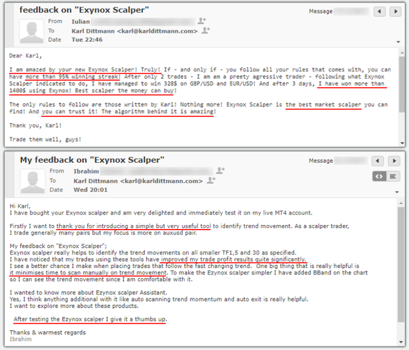 Exynox Scalper Customer Reviews