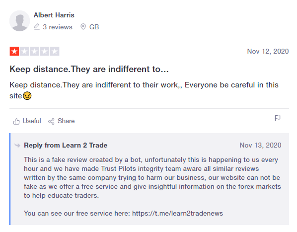 Learn 2 Trade - Customer Reviews
