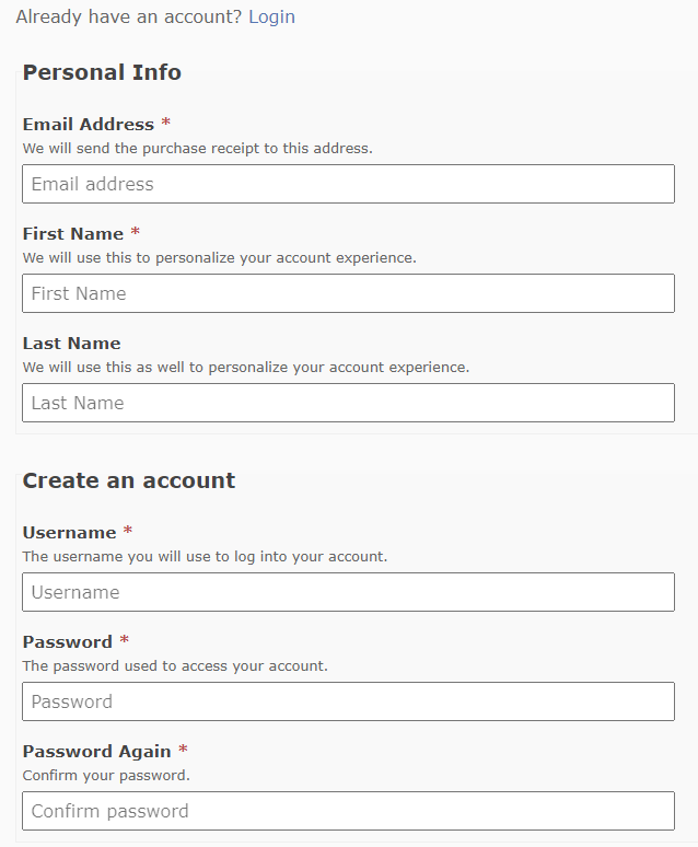 Quivo FX account form