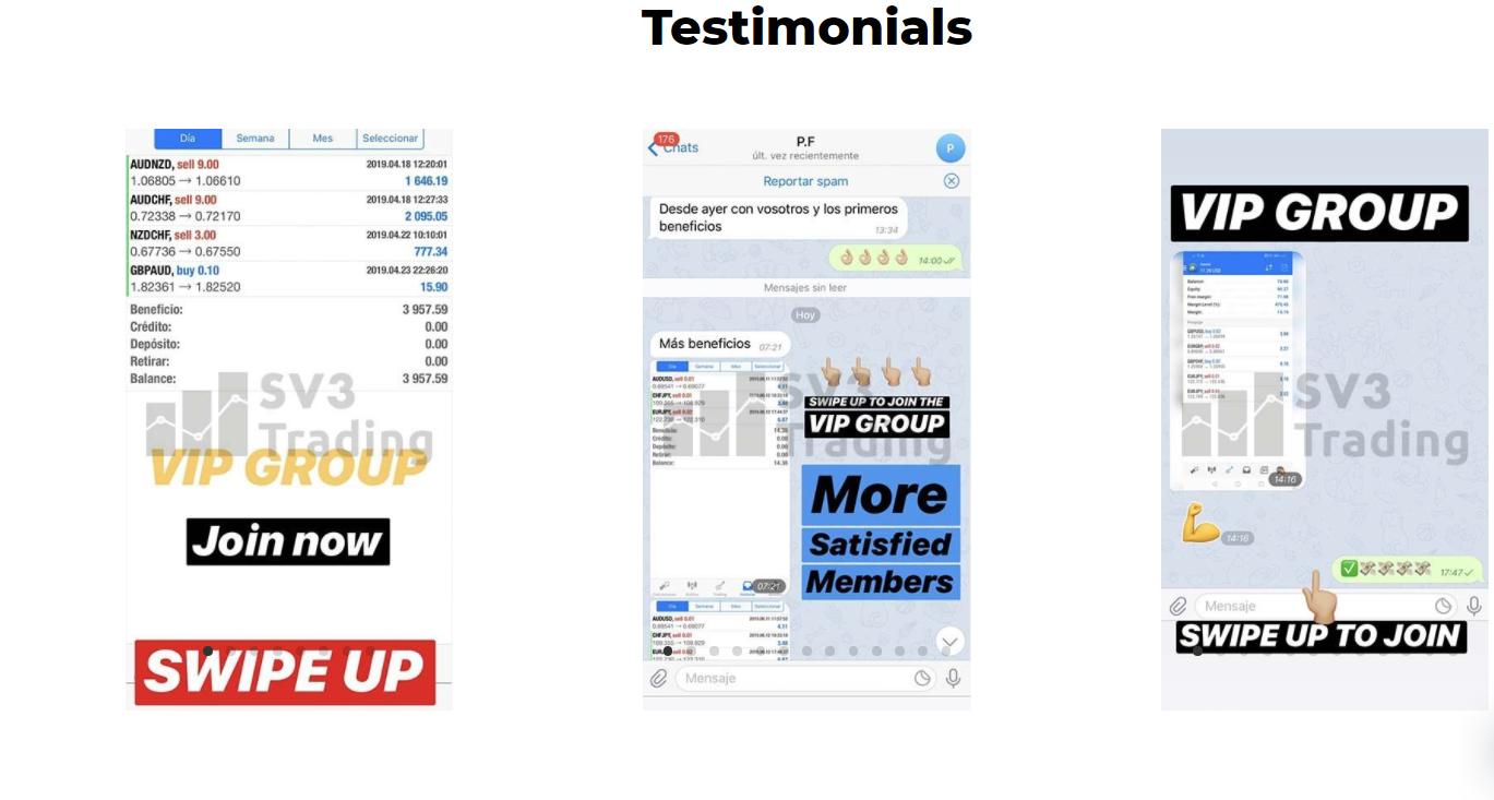 SV3 Trading Customer Reviews