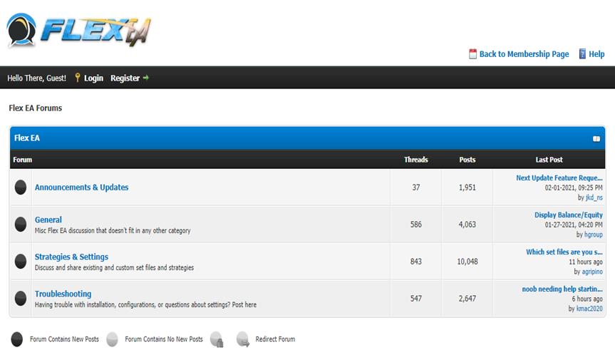 Forex Flex EA Customer Support