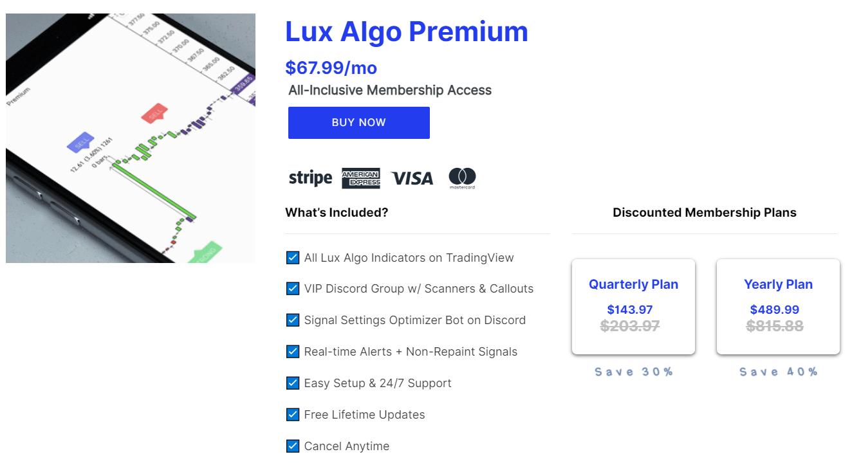 Lux Algo Pricing