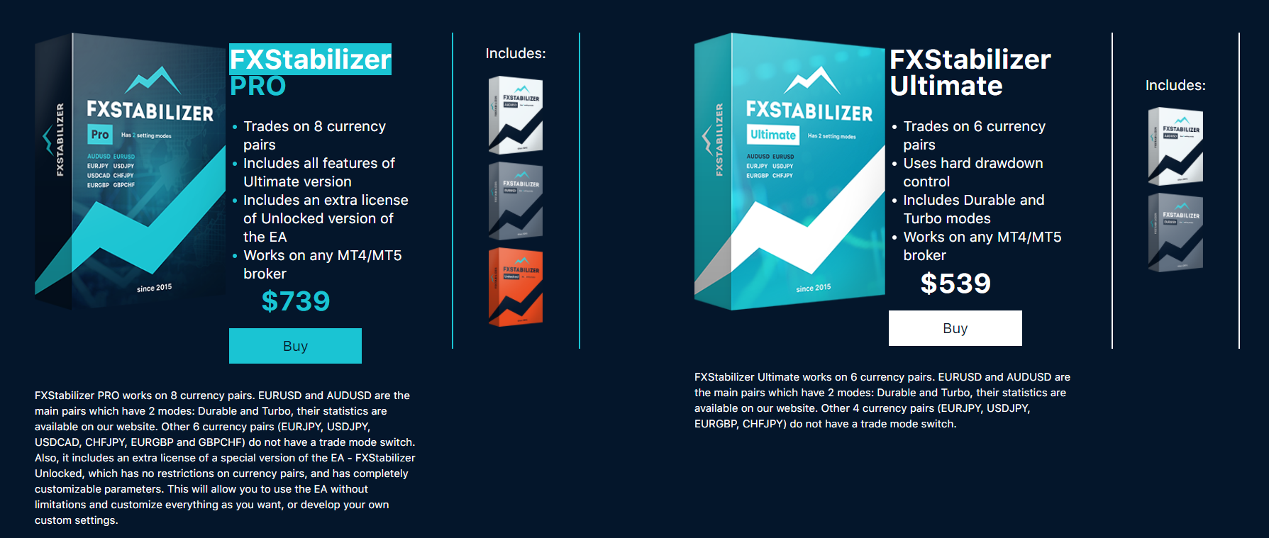FX Stabilizer Pricing