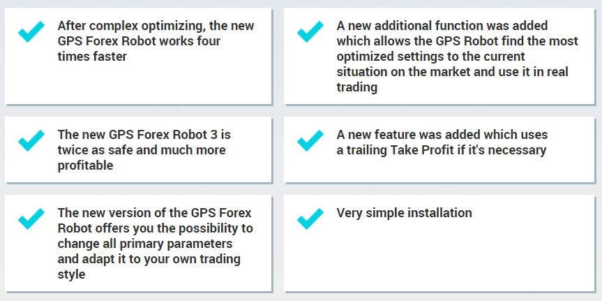 GPS Forex Robot. The new 3-rd version of the robot works four times faster.