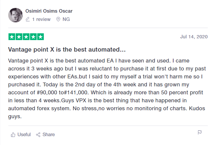 Vantage Point X Customer Reviews