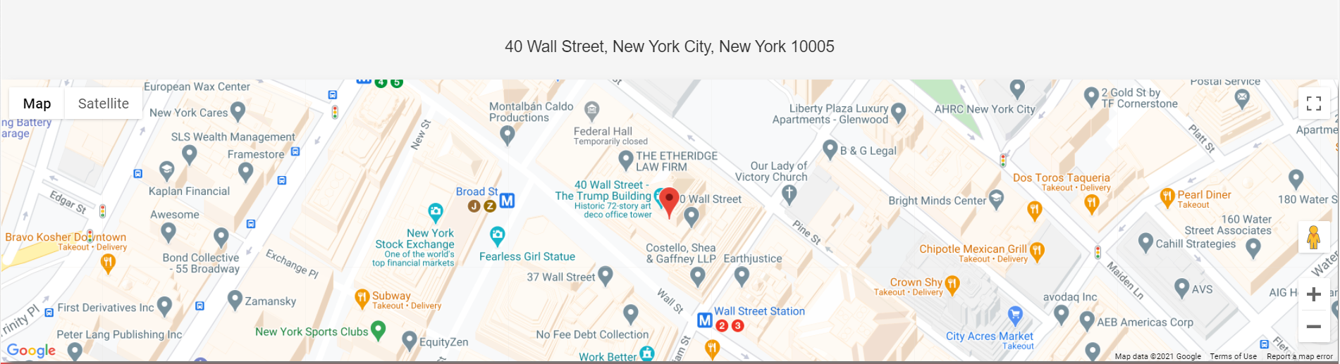Wall Street Traders Club insisted that they are renting an office on 40 Wall Street in New York City.