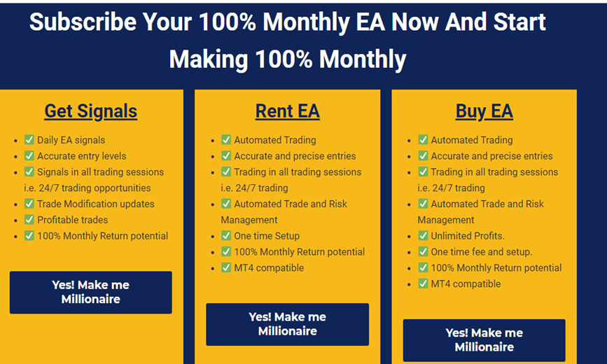 100% Monthly EA Pricing