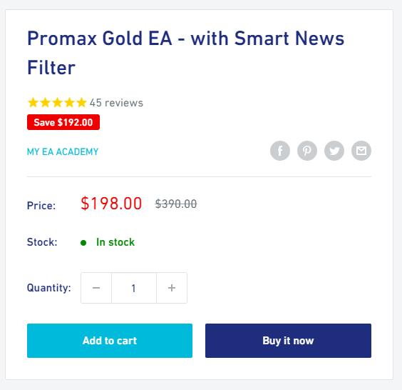 Promax Gold EA Pricing