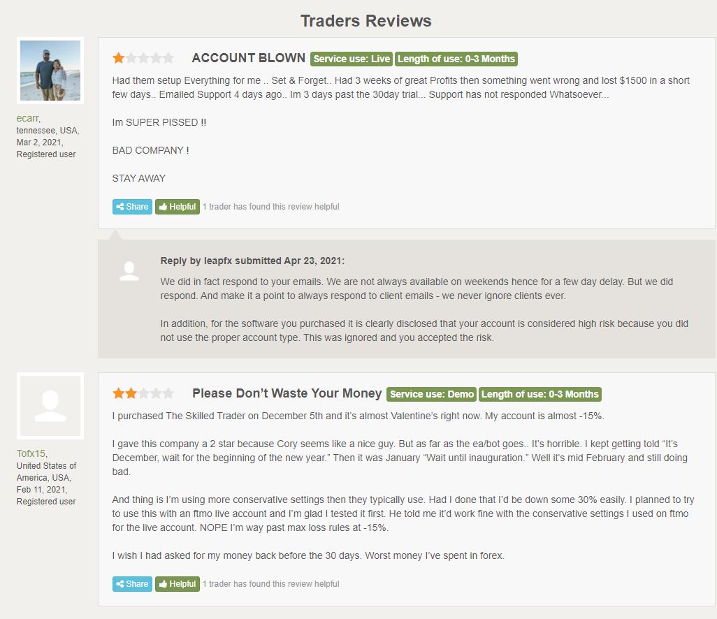 The Fund Trader customer reviews