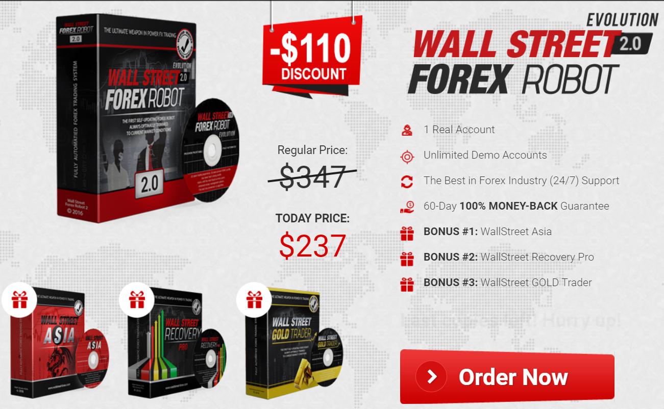 WallStreet Forex Robot Pricing
