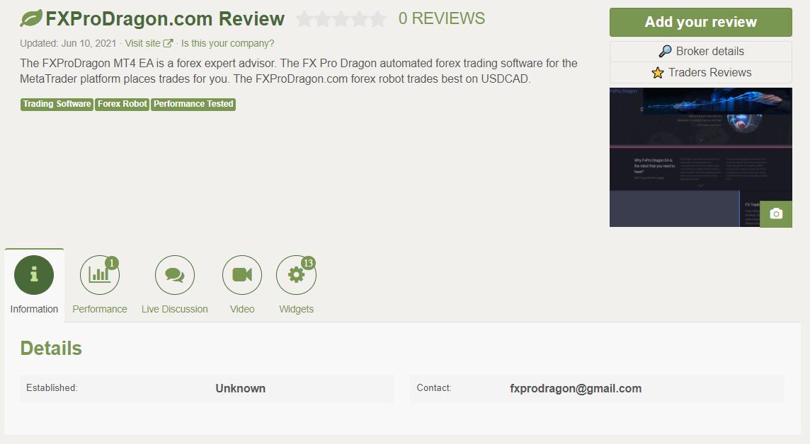 FXPro Dragon Customer Reviews
