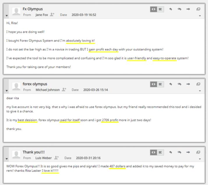 Forex Olympus - Customer Reviews
