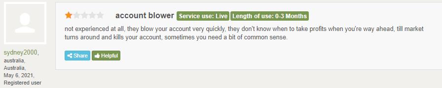 Negative customer feedback for Avia.