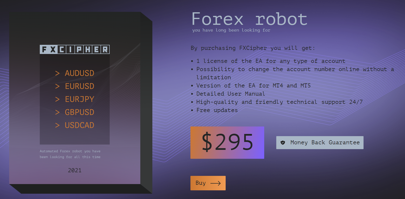 FXCipher pricing.
