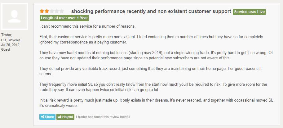 Customer review at FPA.