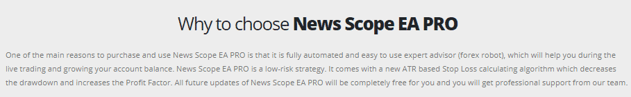 Trading approach of News Scope EA Pro.