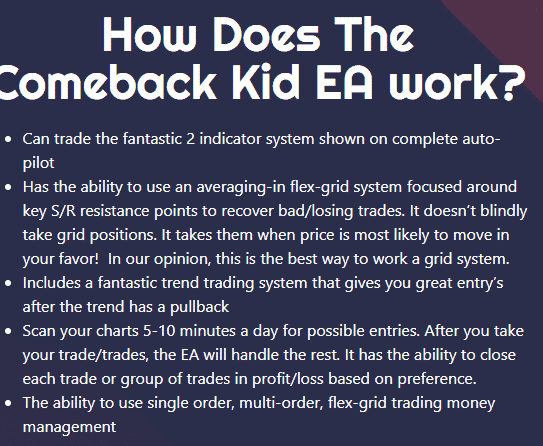 The working method of The Comeback Kid EA.
